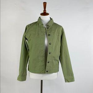 Sorel Button Front Green Jacket, Medium